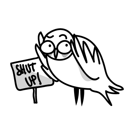 gufi-shut-up