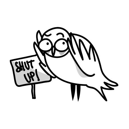 gufi-shut-up